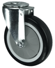 VARLEY V70V075PNJB12 SWIVEL CASTOR. SINGLE HOLE FIXING. 75MM NON MARKING POLYURETHANE TYRED WHEEL