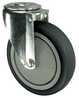 VARLEY V70V100TRJB12 SWIVEL CASTOR. SINGLE HOLE FIXING. 100MM GREY RUBBER TYRED WHEEL
